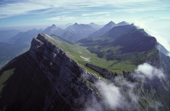 Mountains of Chambéry, Rhône Alpes, France