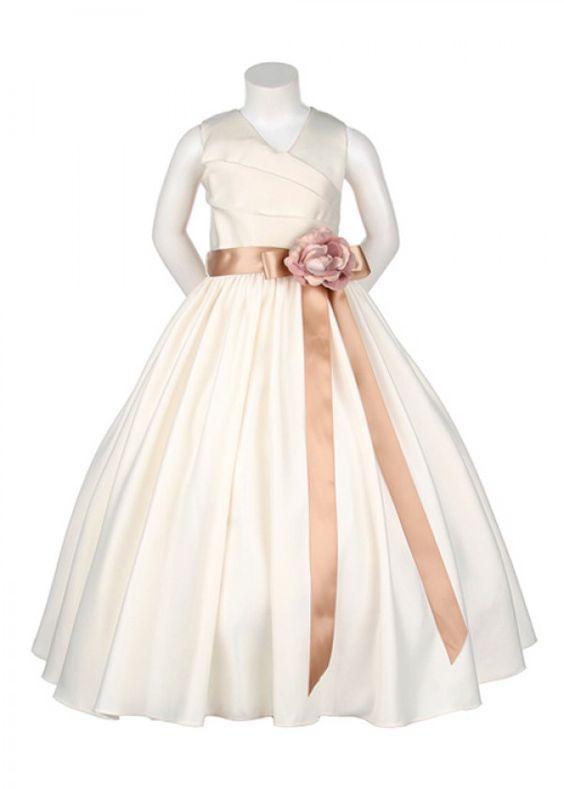 flower girl dresses | Home » Ivory Simple Flower Girl Dress