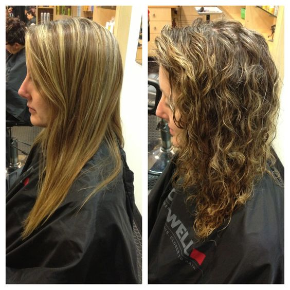 Beach wave perm before and after perm pinterest hair for C curl perm salon vim