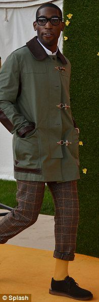 Horse mad: Model Neolle Reno and Martha Freud and Tinie Tempah also attended the event