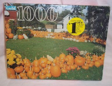 Amazon.com: Guild Pumpkin Farm Pownal Vt Jigsaw Puzzle 1000 Pieces New: Toys & Games