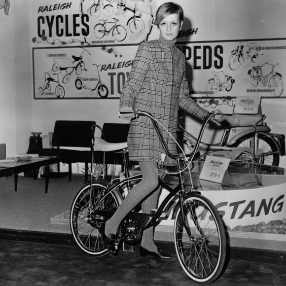 Fotos antiguas de bicicletas: Twiggy