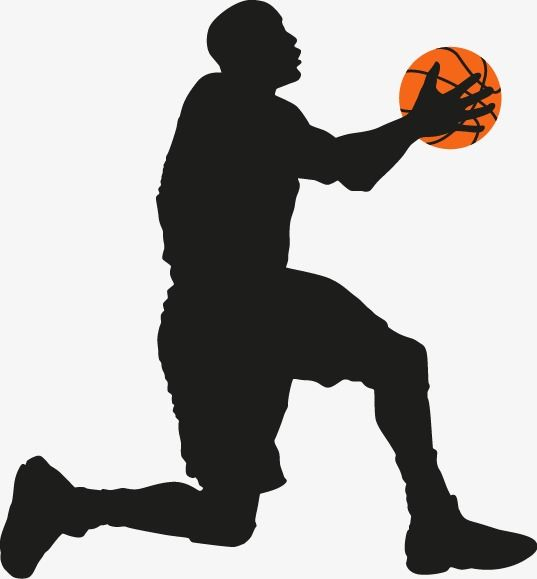 Playing Basketball Silhouette Figures Play Basketball Character Sketch Png And Vector Basketball Silhouette Basketball Cute Cartoon