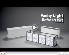 Vanity Light Refresh Kit $38 lowes