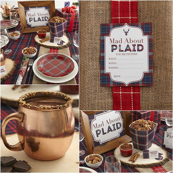 Mad About Plaid - Holiday Party Theme + Free Printables + Recipes