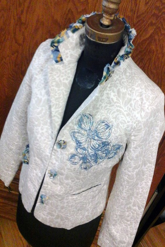$1.00 thriftshop jacket project.