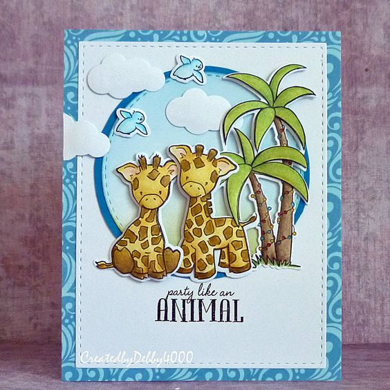 Adorable card created by Debby for the Simon Says Stamp Wednesday challenge (Die Crazy)