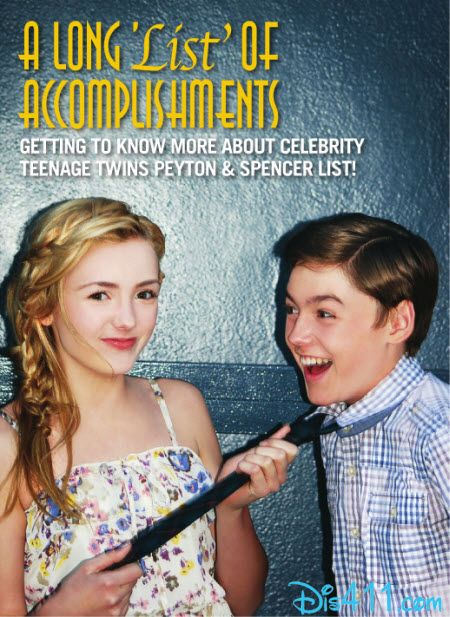 Peyton List And Spencer List On The Cover Of TWINS Magazine
