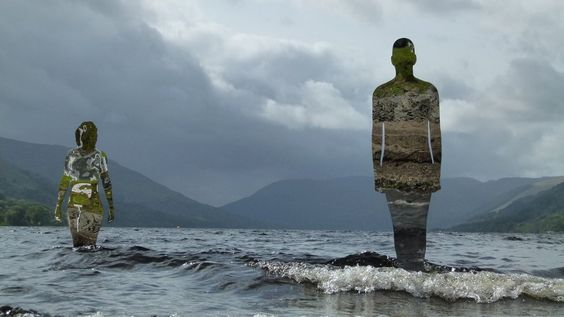 """Mirror Sculptures, by Rob Mulholland, in Loch Earn near St Fillans, Scotland. """"Kim Bennett, from Cupar, liked how they reflect their surrounding environment."""""""