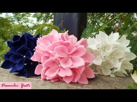 Diy How To Make Felt Rain Lily Youtube Felt Flowers Felt Flowers Diy Paper Flowers