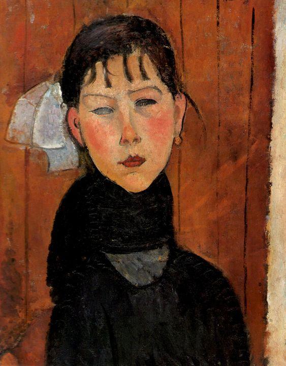 Amedeo Modigliani  Marie (Marie, fille du peuple) (La petite Marie), 1918    SOURCE: artemisdreaming