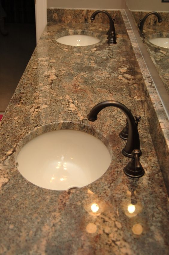 Crema Bordeaux Granite, nice! | bathroom | Pinterest