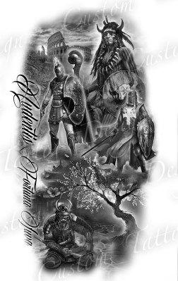 Gallery Custom Tattoo Designs Warrior Tattoo Sleeve Warrior Tattoos Custom Tattoo