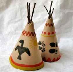 When I was a volunteer art teacher for the elementary grades, I searched many times for American Indian arts and crafts to do with the third grade...: