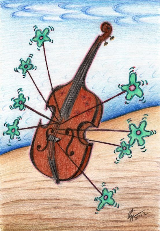 Contrabass drawing I made