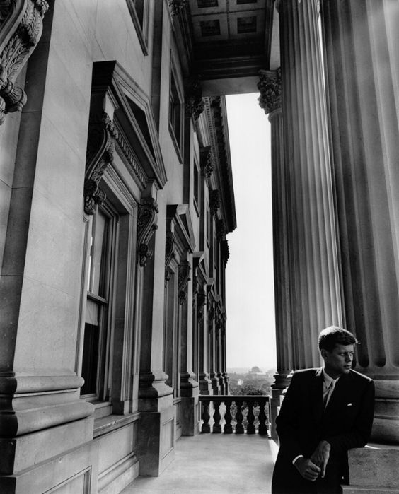 JFK.    photo by Arnold Newman