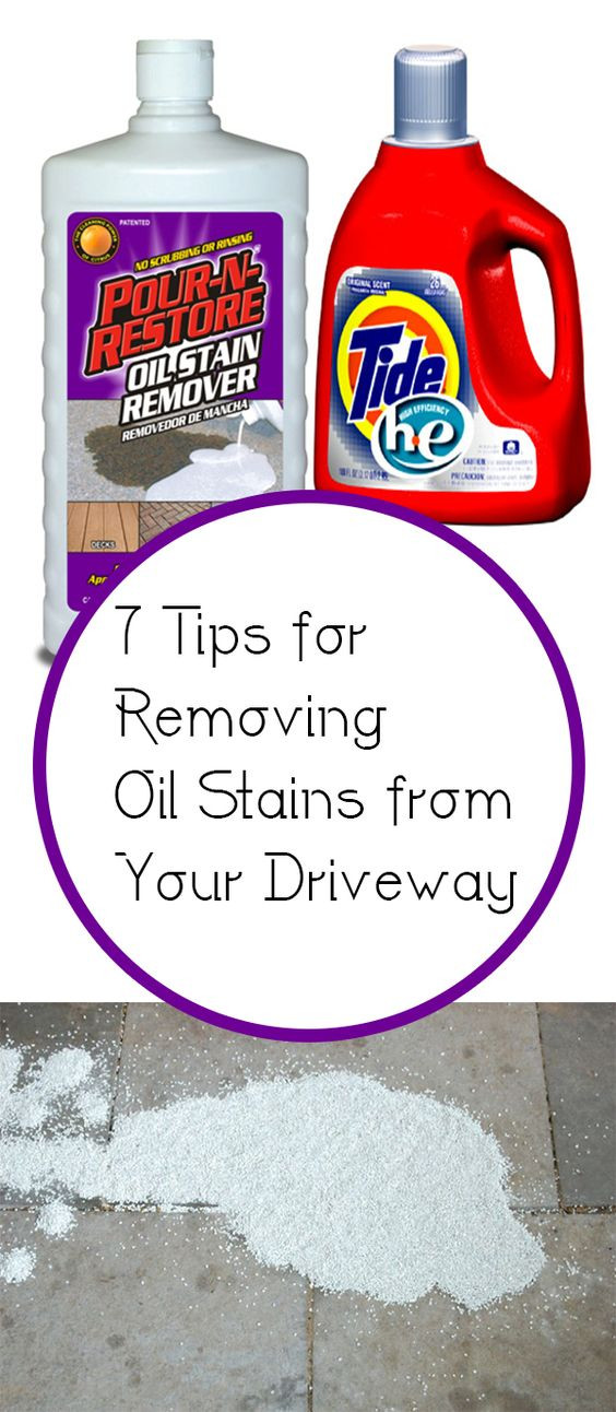 Oil stains driveways and stains on pinterest for Concrete cleaner oil remover