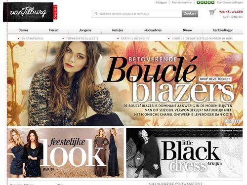 Van Tilburg Online - Shop online in een van de grootste modewinkels»    Gratis verzending - 5% Spaarbonus - Meld je aan voor de nieuwsbrief = direct €5,- korting -   Fysieke winkel van maar liefst 10.000 vierkante meter.