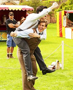 Rob James Collier and Allen Leech. too cute.