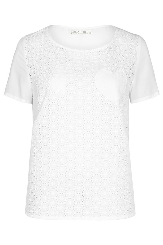 ARIA BRODERIE ANGLAISE TOP Image