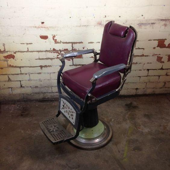 Vintage barber chair. www.mulbury.com.au