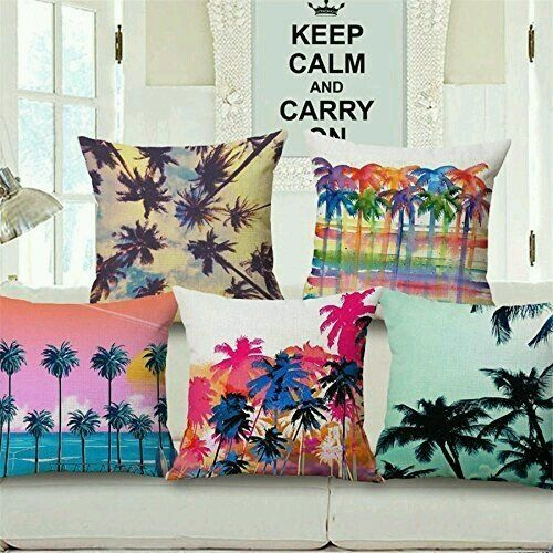 Buy Vrinda Home Decor Knitting Fabric 3d Printed Cushion Cover Set Of 5 At Low Prices In India Only On Winsant Com Cushions On Sofa Bed Pillows Decorative Pillows