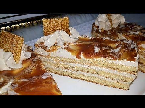 مطبخ أم أسيل باتيسري بنكهة الكراميل طعم خيااال مع وصفة بسكويت الجوكند بديل الجينواز خفييف وطري Youtube Desserts Cake Food