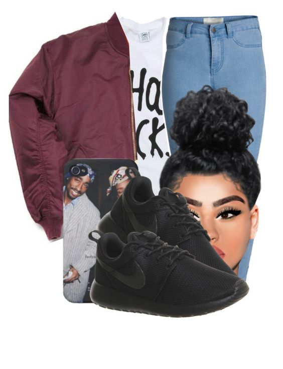 """probably make a gay ----- reconsider"" by guildagraw ❤ liked on Polyvore featuring Pieces, NIKE, women's clothing, women's fashion, women, female, woman, misses and juniors"