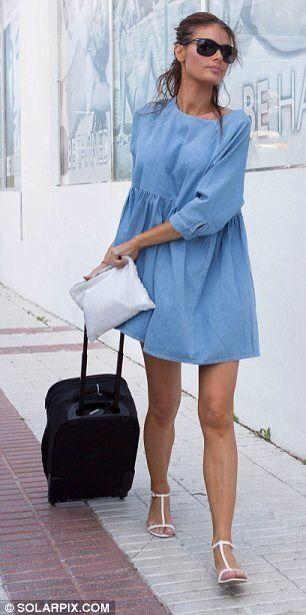 Asos Denim Smock Dress As Seen On Chloe Sims