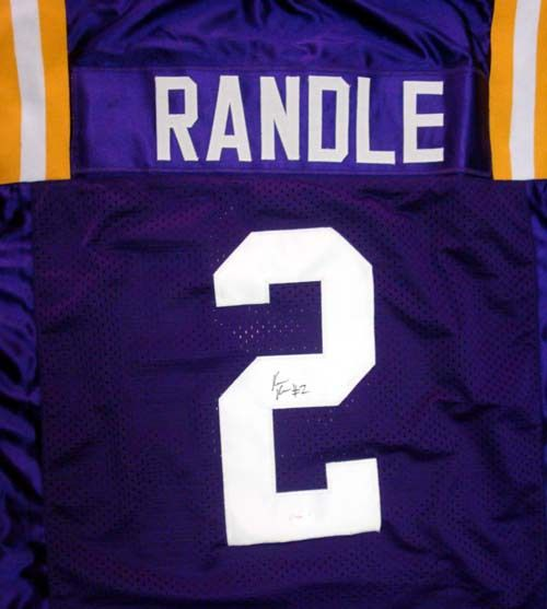 Rueben Randle Autographed LSU Tigers Purple Jersey PSA/DNA RookieGraph Stock