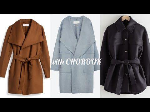مونطوات و معاطف شتاء 2021 للبنات معاطف شتوية للبنات 2021 المعطف الطويل و القصير موضة بنات Youtube Coat Fashion Trench Coat