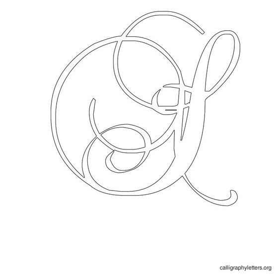 Calligraphy Letter Stencil S Cut Out Patterns