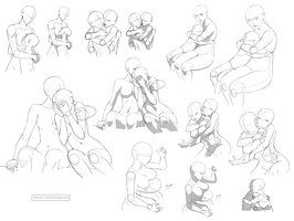 Hug references (FF) by Precia-T | Clovriel | Pinterest | Art, Sad ...