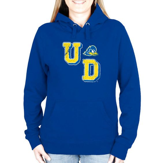Delaware Fightin' Blue Hens Women's Acronym Pullover Hoodie - Royal Blue - $39.99