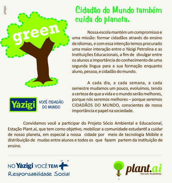 Escola de Idiomas Yazigi promove ação Sustentável...