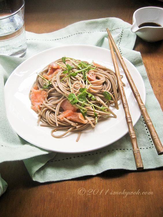 Quick & Healthy Soba Noodlies with Salmon