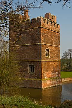 Kirby Muxloe Castle, Leicestershire, England, built in 1430