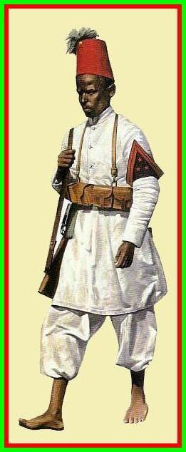 Regio Esercito - Reparti Coloniali - Caporale del VI Battaglione Eritreo, Africa Orientale Italiana, giugno 1940