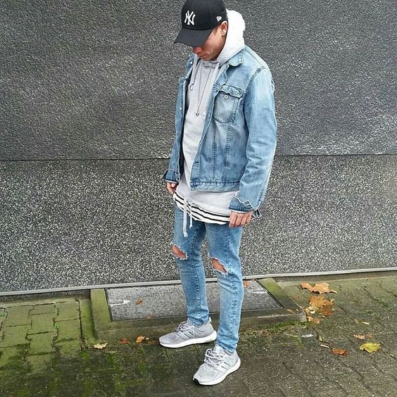 Hat: Asos Jacket: H&M Jeans: H&M Tee: H&M Hoodie: Jack and Jones Sneakers: Adidas Ultra boost