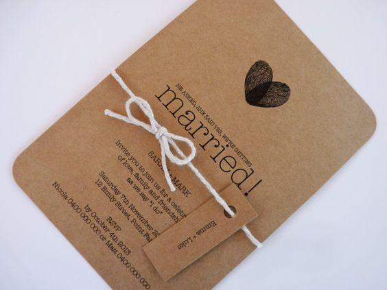 Wedding Invite Paper: PRINTABLE ARTWORK Kraft Paper Wedding Invitation Custom