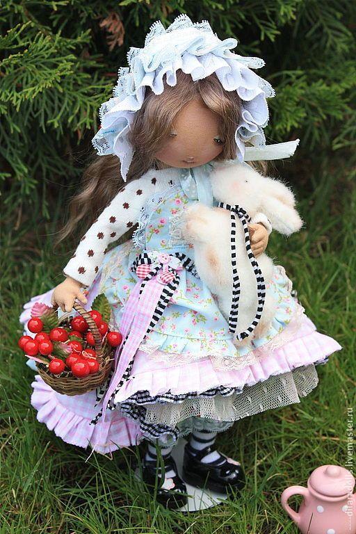 """Купить текстильная кукла"""" Лили"""" - текстильная кукла, авторская ручная работа, авторская кукла, зайка"""