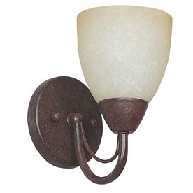 Ashton 5.13-in W 1-Light Rubbed Bronze Candle Hardwired Wall Sconce