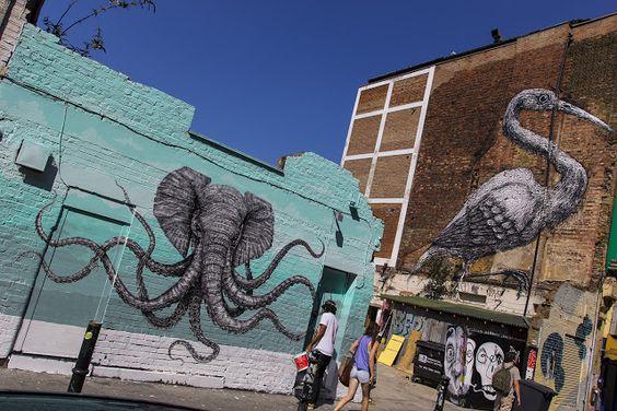 John Lennon And Yoko Ono Art Mural Miami Wynwood Crafted To - Awesome mechanical shark mural phlegm