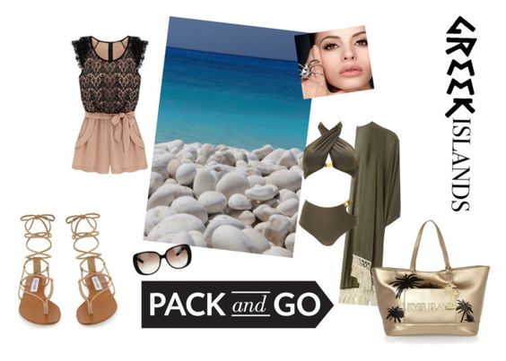"""""""Island Getaway"""" by msteena87 ❤ liked on Polyvore featuring Dorothy Perkins, Steve Madden, River Island, Gucci, Packandgo and greekislands"""