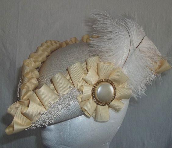 Pirate Hat White and Cream Romantic Tricorn Bridal Hat. $60.00, via Etsy.