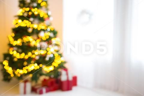 Defocused Background Living Room With Christmas Tree Beautiful New Year Deco Stock Photos Ad Room Christmas Living Christmas Tree Beautiful Tree Christmas Christmas tree living room background