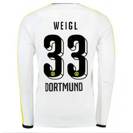 Günstige fußballtrikots BVB Borussia Dortmund 15-16 Weigl Dritte Langarm Trikot