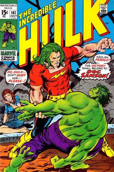 Incredible Hulk #141. Doc Samson makes his debut. Art by Herb Trimpe. #Hulk…