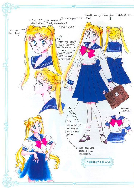 Phenomenal Sailor Moon Character Design Sheet Character Bio Pinterest Hairstyles For Men Maxibearus