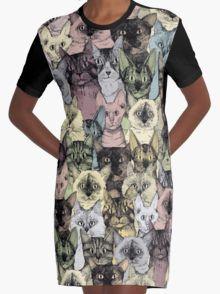 just cats retro Graphic T-Shirt Dress